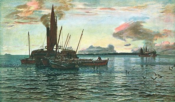 乗客輸送船「The Herring Market At Sea (On Loch Fyne」:写真・画像(16)[壁紙.com]