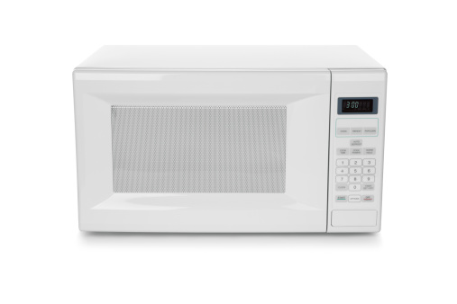 Convenience「White microwave oven on white background」:スマホ壁紙(19)