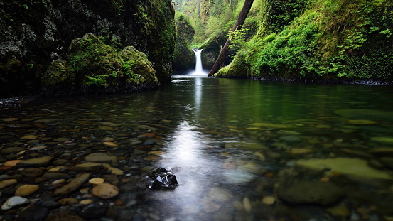 Columbia River Gorge「Punch Bowl Falls」:スマホ壁紙(17)