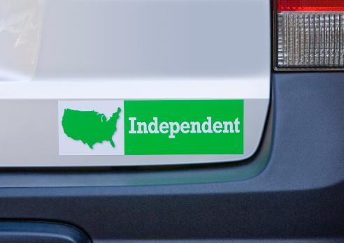 Election「Independent bumper sticker on car」:スマホ壁紙(5)