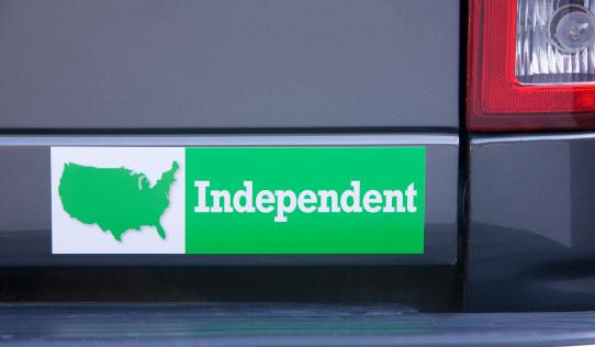 Election「Independent bumper sticker on car」:スマホ壁紙(8)