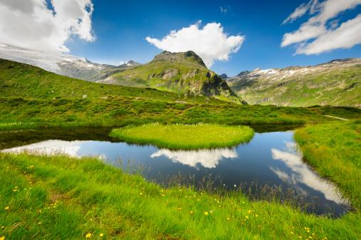 ヨーロッパアルプス「チロルの山々や湖、オーストリア」:スマホ壁紙(16)