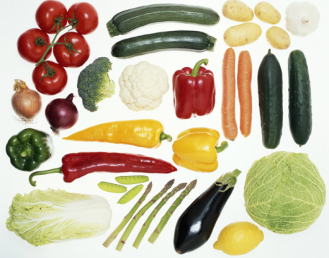 Vegetable「Vegetables on illuminated white surface, overhead view」:スマホ壁紙(6)