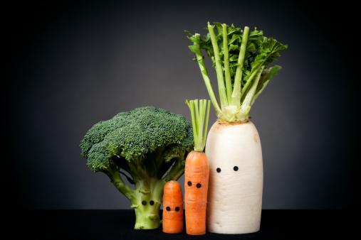 キャラクター「野菜と目」:スマホ壁紙(7)