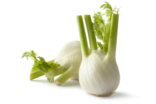 Fennel「Vegetables: Fennel Isolated on White Background」:スマホ壁紙(1)