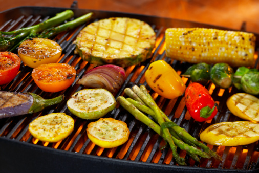 Barbecue Grill「Vegetables on Grill」:スマホ壁紙(3)