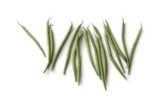 Bush Bean「Vegetables: Green Bean Isolated on White Background」:スマホ壁紙(0)