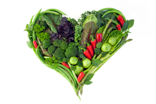 Asparagus「Vegetables - Healthy Heart Isolated on White」:スマホ壁紙(2)