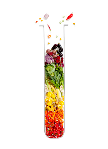 Digital Composite「vegetables making the shape of a test tube」:スマホ壁紙(5)