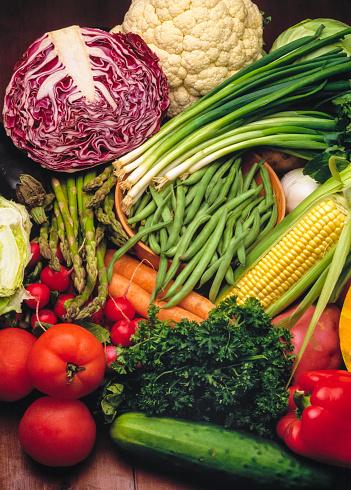 Cabbage「Vegetables. Still life. Studio Shot.」:スマホ壁紙(1)