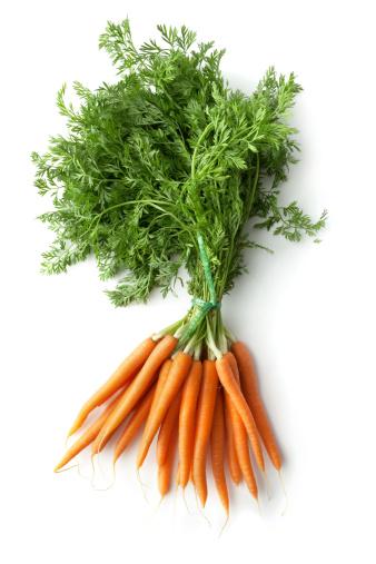 Carrot「Vegetables: Carrots Isolated on White Background」:スマホ壁紙(16)