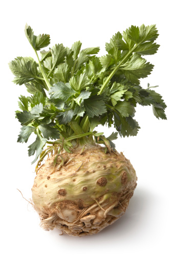 Celery「Vegetables: Celeriac Isolated on White Background」:スマホ壁紙(1)