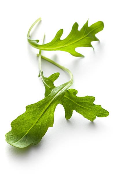 Vegetables: Arugula Lettuce Isolated on White Background:スマホ壁紙(壁紙.com)