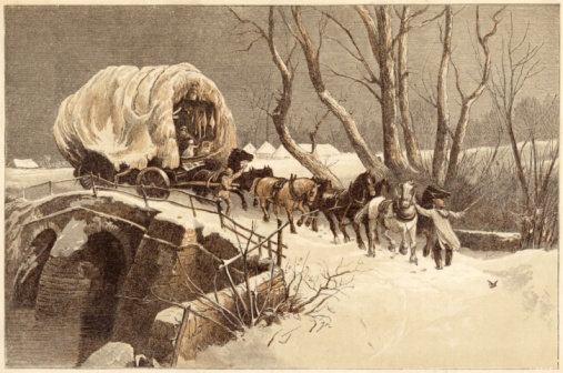 1866「The Christmas Wagon, 1866」:スマホ壁紙(4)