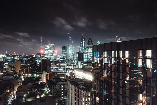 Financial District「london night view of the donwtown」:スマホ壁紙(7)