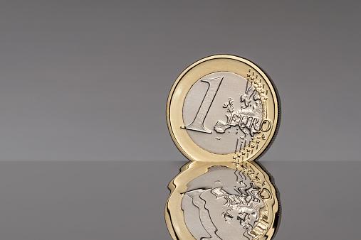 硬貨「Euro coin reflection」:スマホ壁紙(5)