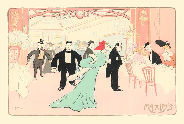 Illustration Technique「From The White And Orange Book: >At Maxim'S: Melle Pollo, Tantôt Chouchou<. Paris. Frankreich. 1901. Colore Lithograph By Sem (Georges Goursat).」:写真・画像(18)[壁紙.com]
