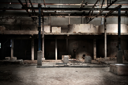 City Life「Abandoned factory hall」:スマホ壁紙(17)