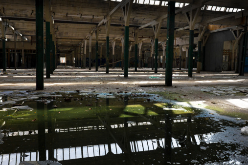 Puddle「abandoned factory hall」:スマホ壁紙(17)