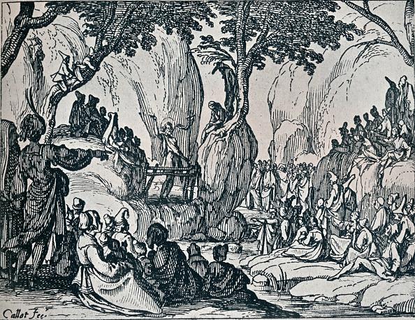 Preacher「No. III. -St. John Preaching, 1635, (1924). Artist: Jacques Callot」:写真・画像(4)[壁紙.com]
