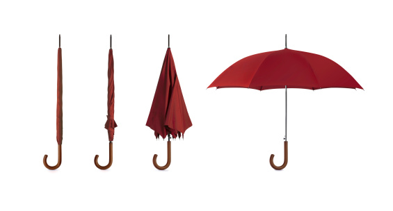 Small Group Of Objects「Four pictures of umbrellas in different positions」:スマホ壁紙(19)