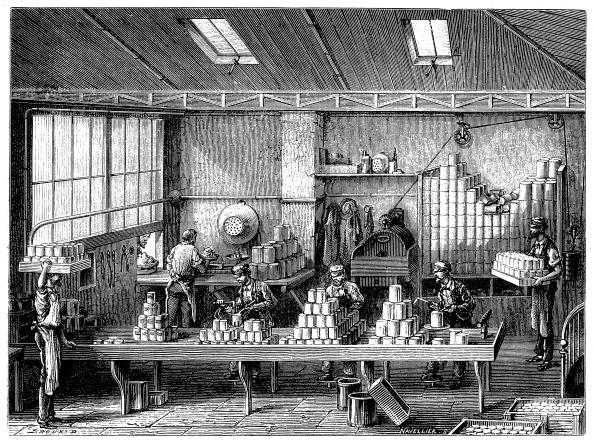 Soldered「Filling and soldering cans of food, France, c1870.」:写真・画像(7)[壁紙.com]