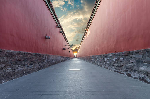 Surrounding「red walls passage in Forbidden city, Beijing」:スマホ壁紙(18)