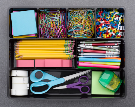 Rubber Band「Office Supplies in Tray」:スマホ壁紙(13)