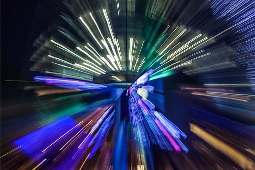 Zoom「Blur of lighted sign」:スマホ壁紙(12)