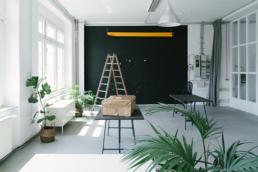 Small Office「Empty office space, no people」:スマホ壁紙(6)
