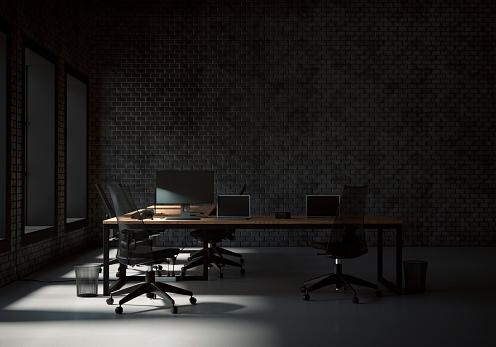 New Business「Empty office」:スマホ壁紙(13)