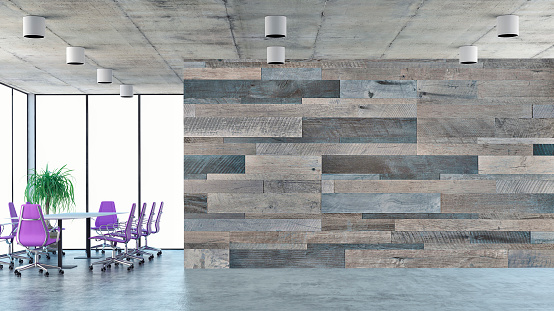 Purple「Empty office interior with conference table」:スマホ壁紙(1)