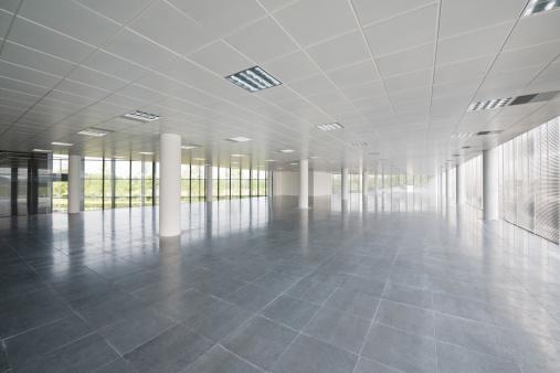 Ceiling「Empty Office Floor」:スマホ壁紙(15)