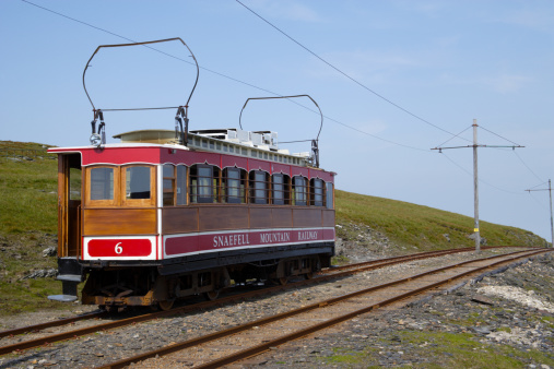 Isle of Man「Snaefell Mountain Railway tram returns to Laxey」:スマホ壁紙(6)