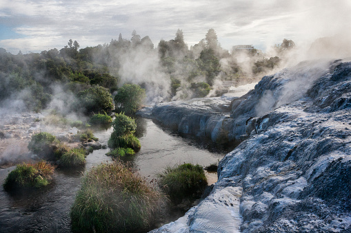 Volcanic Landscape「Whakarewarewa Thermal Park in Rotorua, New Zealand」:スマホ壁紙(6)