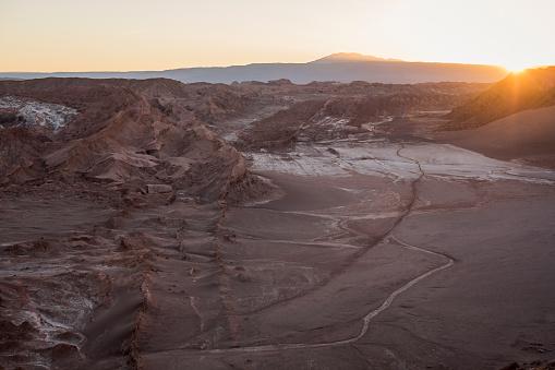 Antofagasta Region「Chile, San Pedro de Atacama, Atacama desert at sunset」:スマホ壁紙(17)