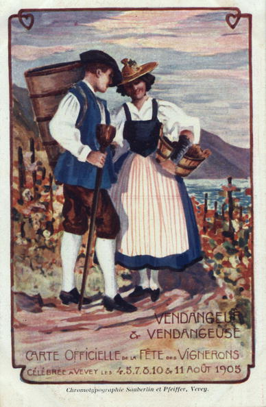 Vaud Canton「official card for the winegrowers fair in Vevey, Switzerland august 4-11, 1905」:写真・画像(11)[壁紙.com]