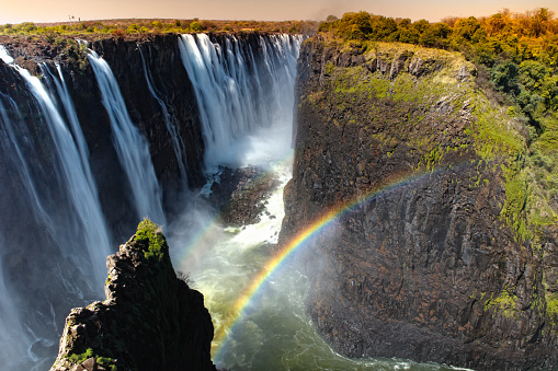 Rainbow「Southern Africa, Victoria Falls between Zambia and Zimbabwe」:スマホ壁紙(7)