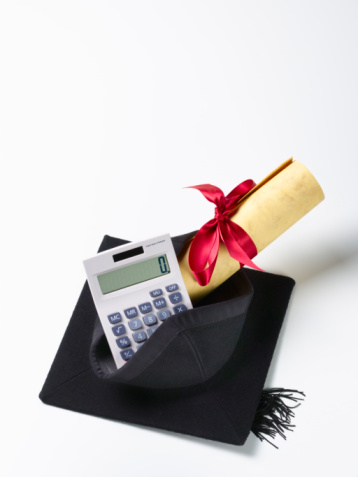 Mortarboard「Mortar board and scroll on calculator.」:スマホ壁紙(13)