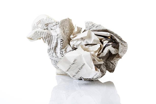 Crumpled newspaper, close-up:スマホ壁紙(壁紙.com)