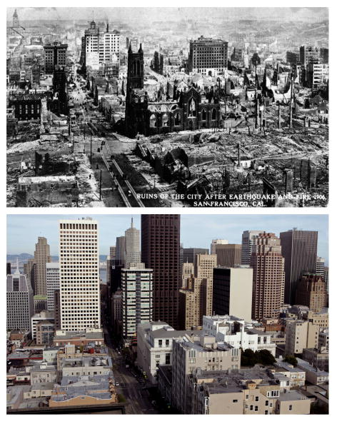 San Francisco - California「The 1906 San Francisco Earthquake: Then And Now」:写真・画像(15)[壁紙.com]