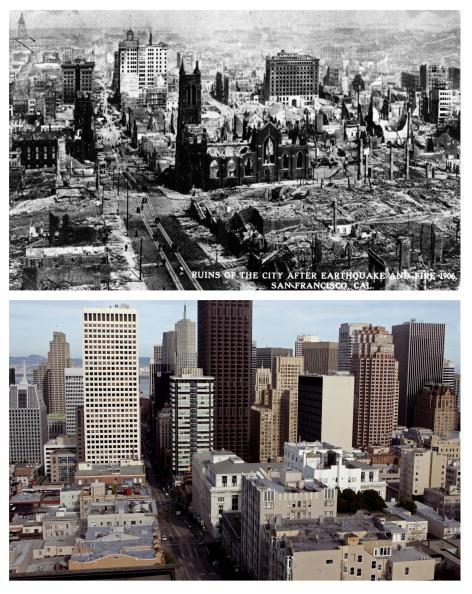 カリフォルニア州 サンフランシスコ「The 1906 San Francisco Earthquake: Then And Now」:写真・画像(10)[壁紙.com]