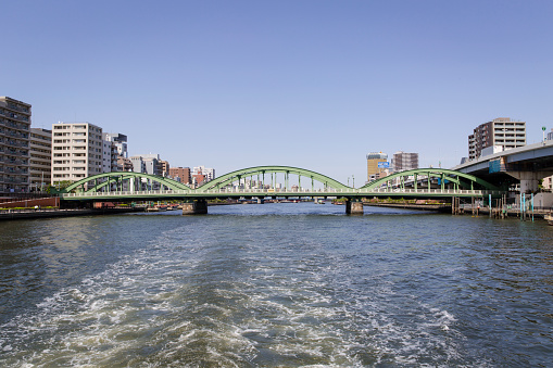 Japan「Umayabashi Bridge Crossing the Sumida River, Tokyo, Japan」:スマホ壁紙(13)