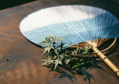お祭り「Round Fan and Maple Leaf」:スマホ壁紙(19)