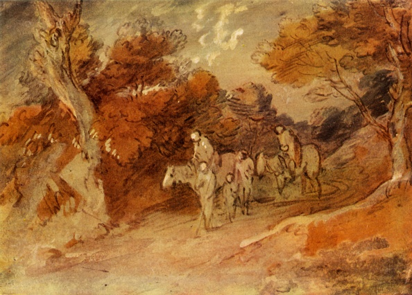 Country Road「Figures And Horses In A Country Lane」:写真・画像(10)[壁紙.com]