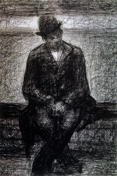 クレヨン「'Vagabond', c1880-1891 Artist: Georges-Pierre Seurat」:写真・画像(9)[壁紙.com]