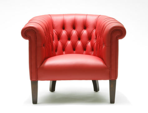 Armchair「Bright red leather chair」:スマホ壁紙(8)
