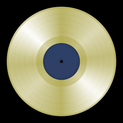 Funky「Lifesized Gold Record on Black (with 2 Clipping Paths)」:スマホ壁紙(3)