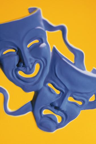 Frowning「Theater masks」:スマホ壁紙(7)