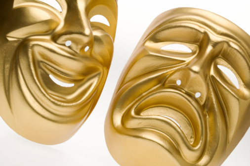 Frowning「Theater masks」:スマホ壁紙(10)